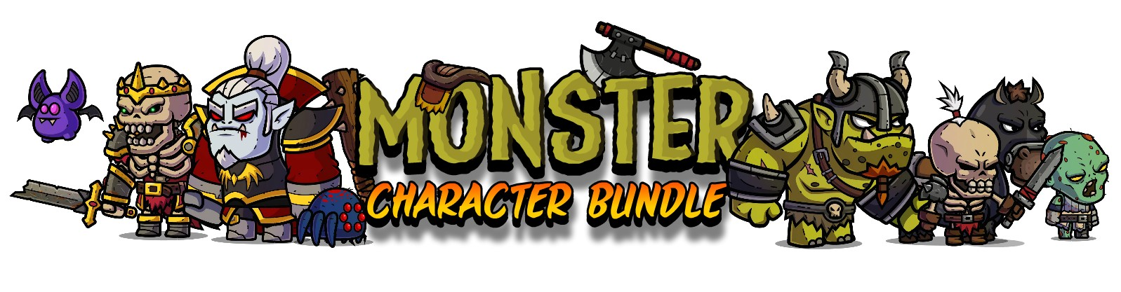 Monster Character Bundle - Royalty Free Game Art