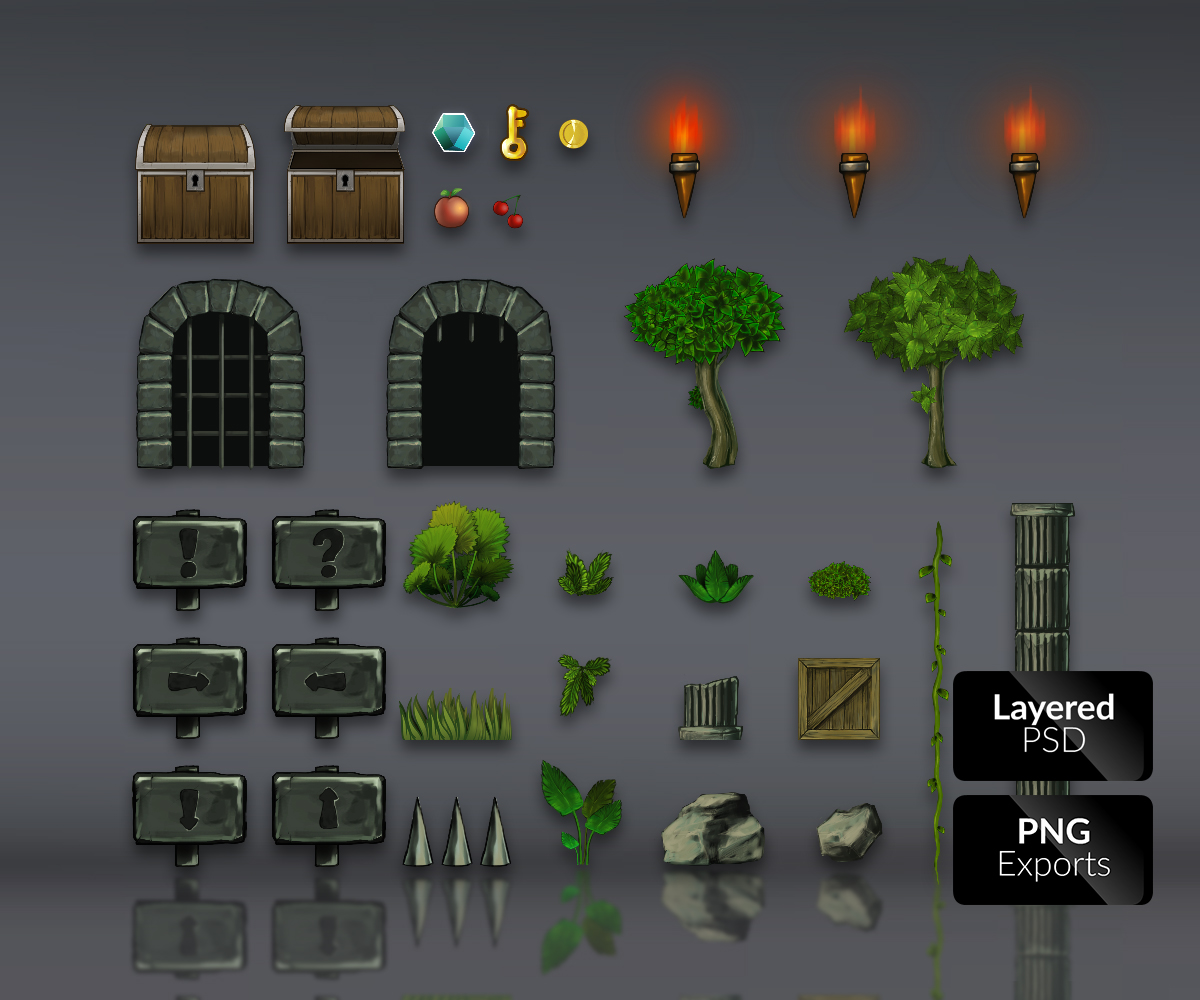 The gallery for -- Platform Game Tiles