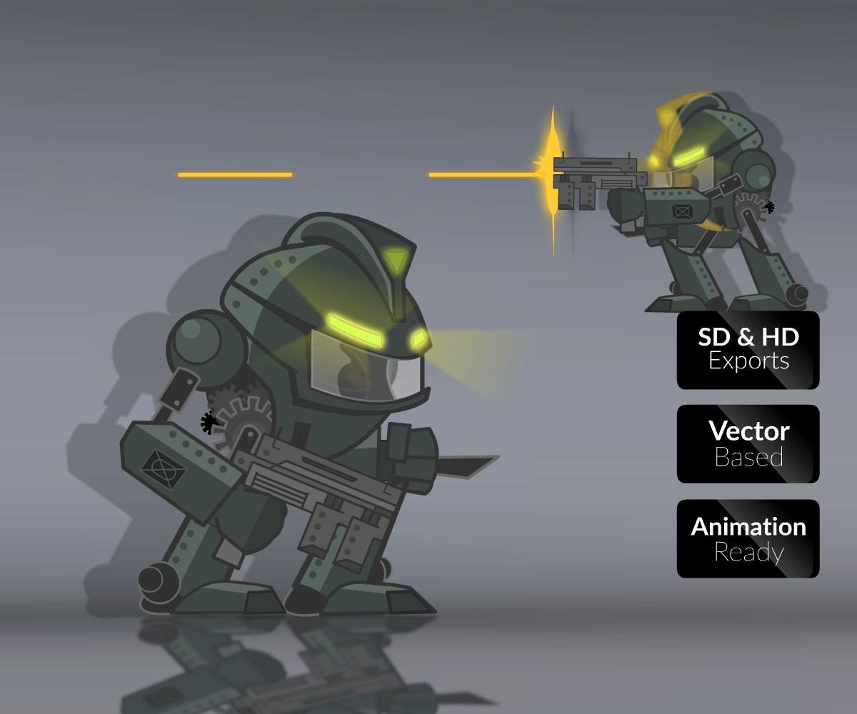Destroyer Mech - Royalty Free Game Art