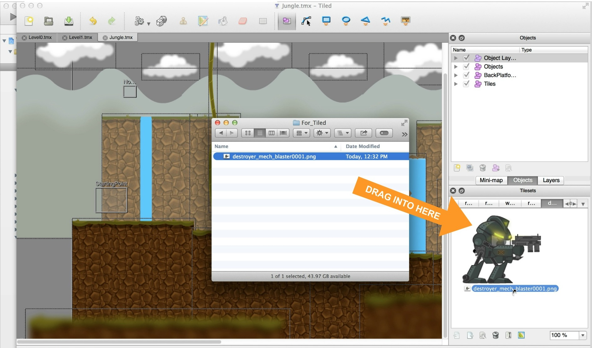Step 5 - Integrating Objects with the Fantastic Worlds iOS Starter Kit