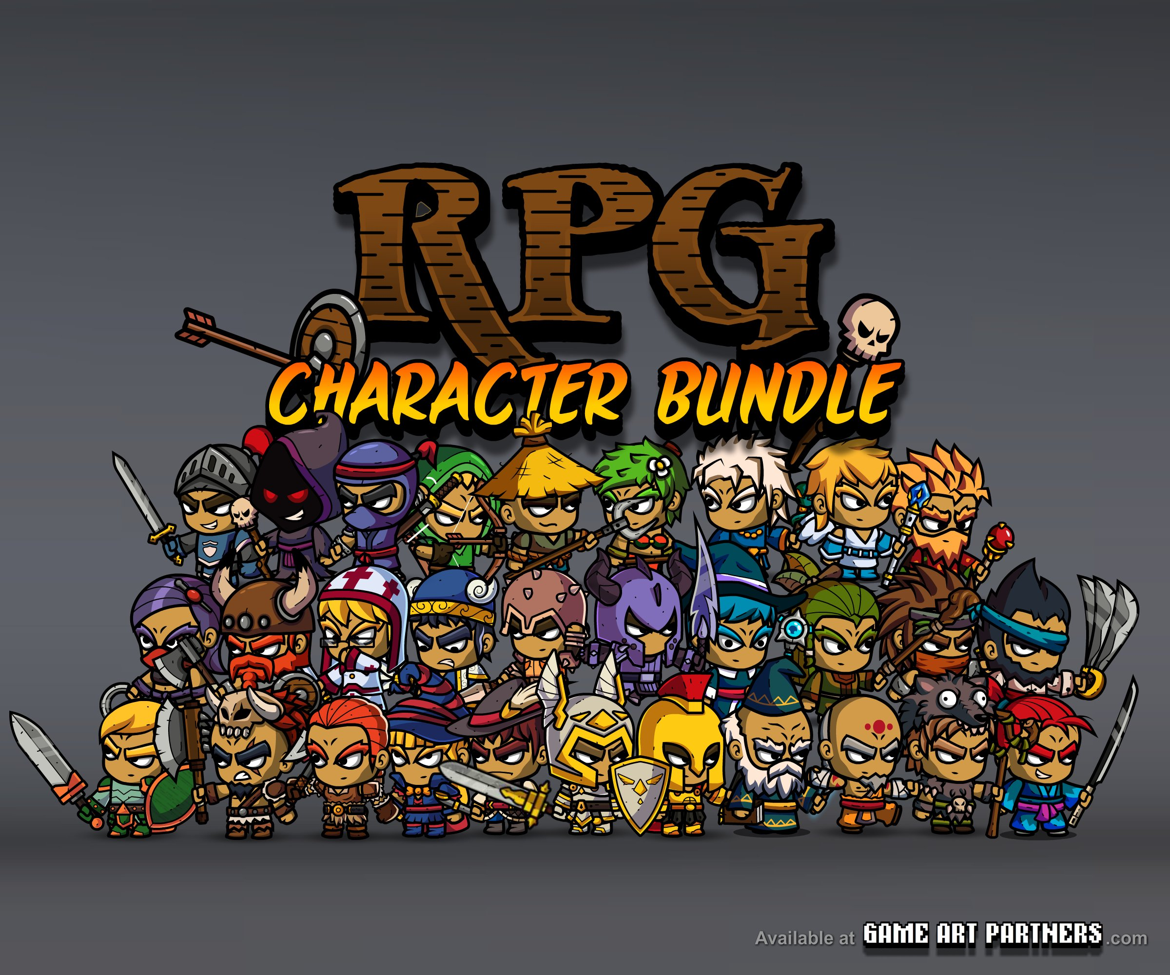 RPG Character Bundle - Royalty Free Game Art and Assets