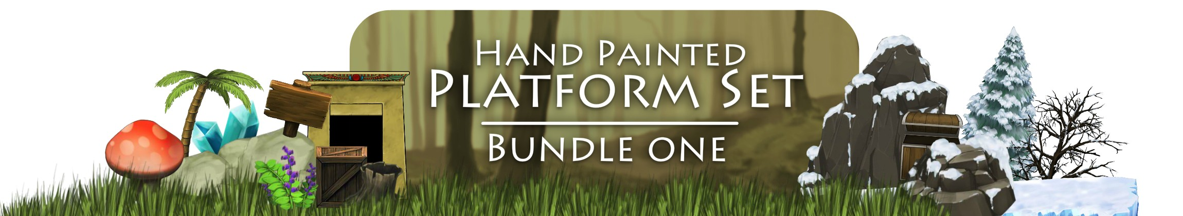 Hand Painted Platform Set Bundle 1