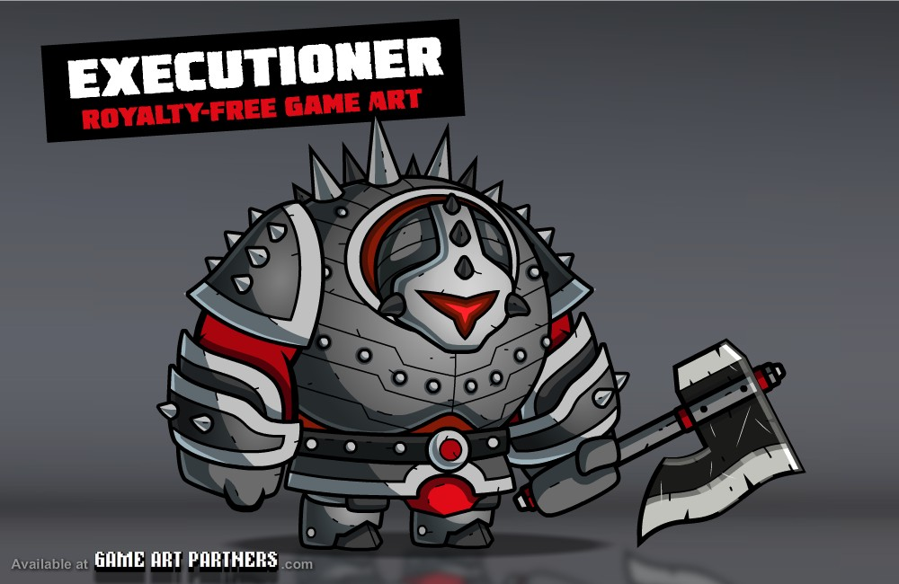 Executioner - Royalty Free 2D Game Art Character