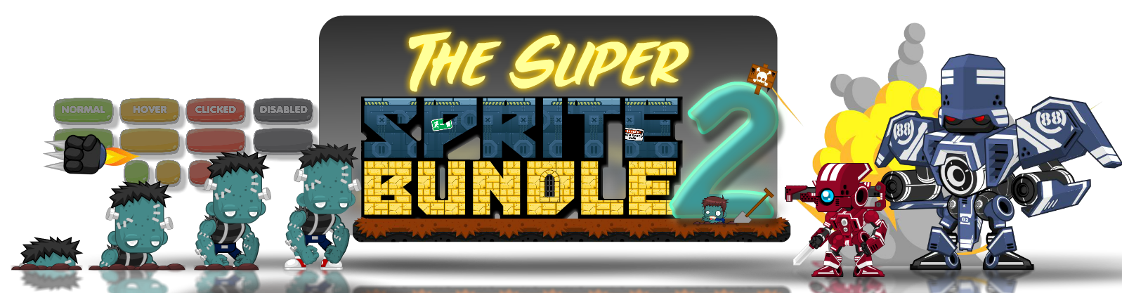 The Super Sprite Bundle 2 - Royalty Free Game Art Collection