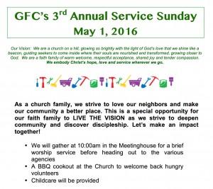 (Community) Service Sunday @ Green's Farms Church