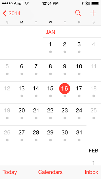 how can i view and edit my calendar on my smartphone