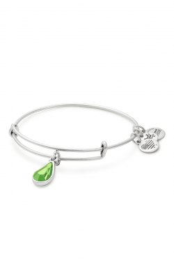 August Birth Month Charm Bangle With Swarovski Crystal product image