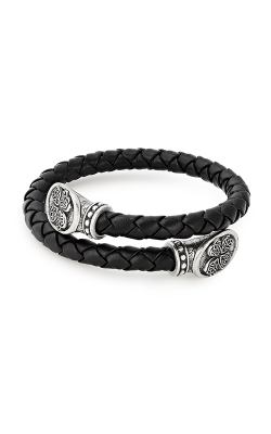 Four Leaf Clover Men's Braided Leather Wrap product image