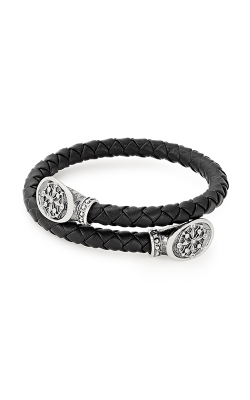 Compass Men's Braided Leather Wrap product image