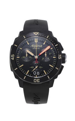 Alpina Seastrong Diver 300 Big Date Chronograph Watch AL-372LBBG4FBV6 product image