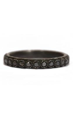 Armenta Blackened Black Diamond Stack Ring 03117 product image