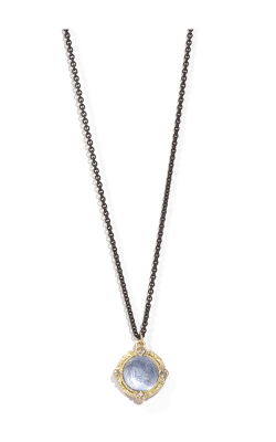 Armenta Round Drop Layering Necklace With Kyanite Doublet - 16 Inch 06837 product image