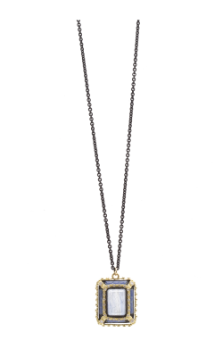 Armenta Glass Mosaic Carved Emerald-Cut Layering Necklace With Kyanite Doublet - 16 Inch 07757 product image