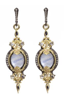 Armenta Filigree Pointed Earrings With Kyanite Doublet 07150 product image