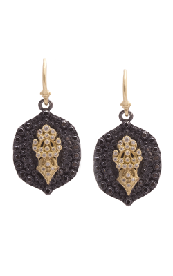 Armenta Oval Pointed Fleur De Lis Earrings With Diamonds 07524 product image