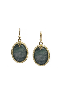 Armenta Carved Oval Drop Earring With Malachite 09437 product image