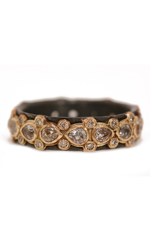 Armenta Lacy Pear Eternity Sapphire Stack Ring 01688 product image