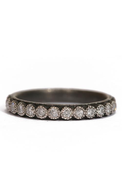Armenta Blackened White Diamond Stack Ring 03079 product image