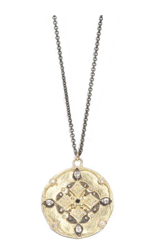 Armenta Scalloped Shield Drop Layer Necklace 04364 product image