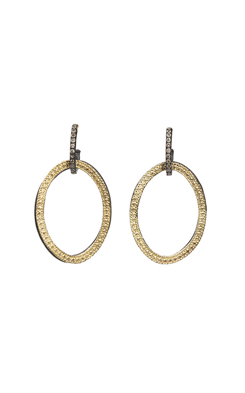 Armenta Open Circle Link Drop Diamond Earrings 05609 product image