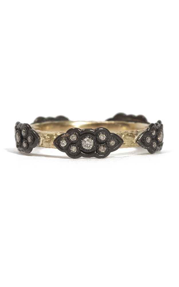 Armenta Sculpted Scroll Diamond Stack Ring 05579 product image