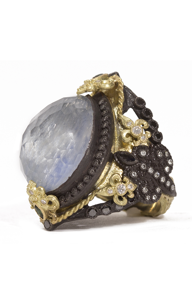 Armenta Pear Ring with Kyanite Doublet 07156 product image