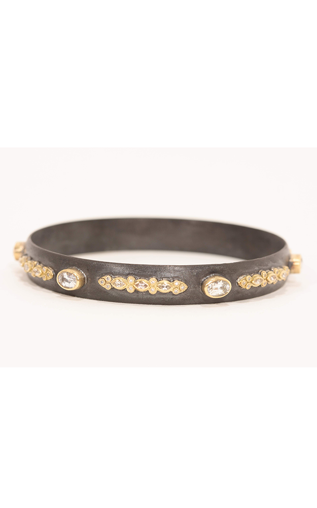 Armenta Wide Lacy Diamond And Sapphire Bangle 01994 product image