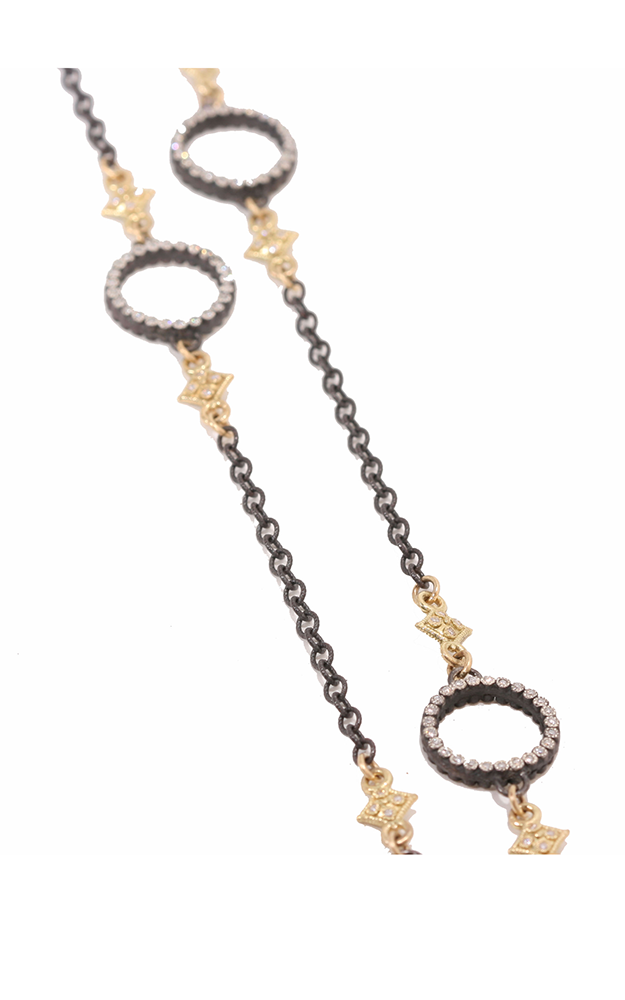 Armenta Cable chain with white diamond cravelli and circle stations 02452 product image
