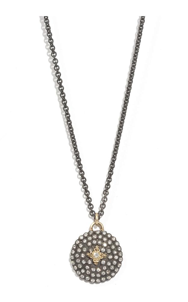 Armenta Petite Diamond Shield on Layer Chain 04350 product image
