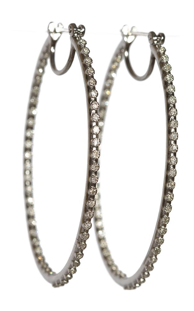 Armenta Side Eternity Diamond Hoops 02871 product image