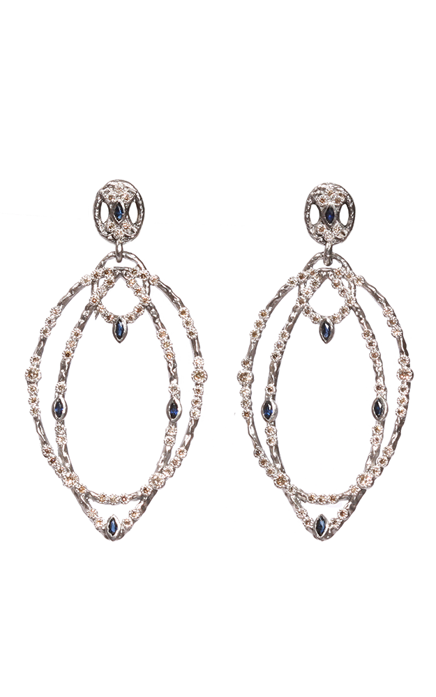 Armenta 2 Hoop Drop Earrings 02893 product image