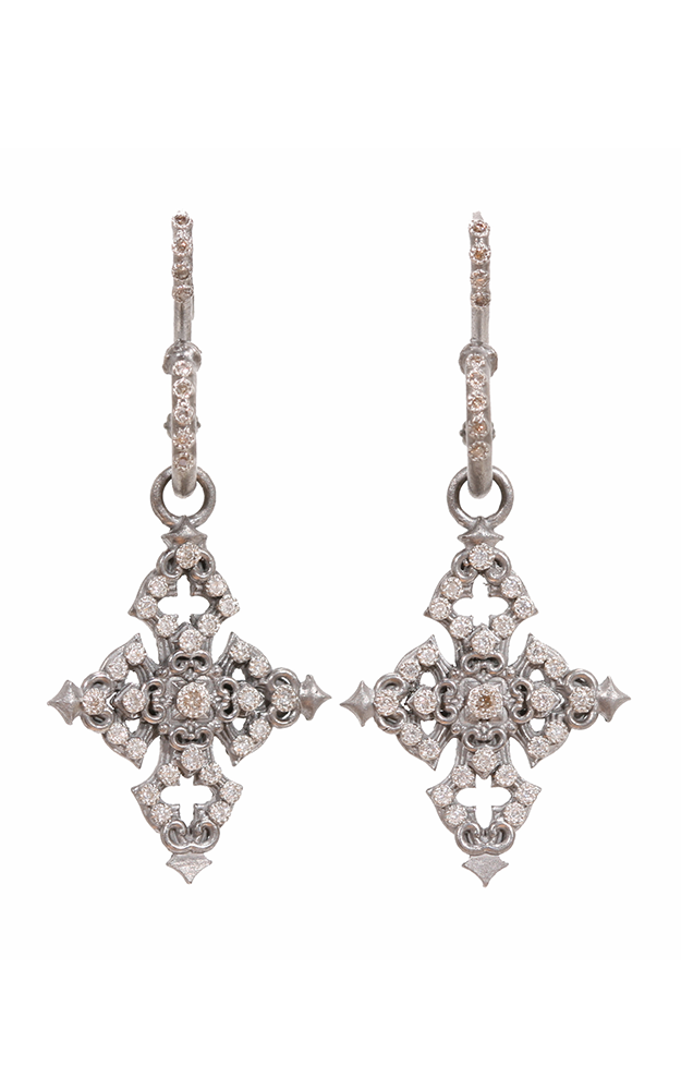 Armenta Cross Drop Earrings on S hook 02899 product image