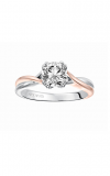 Artcarved  Solitude  Diamond engagement ring with high polished split shank, twist design and double prong setting.  Engagement Ring  31-V153DRRR-E