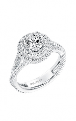 ArtCarved Contemporary Engagement Ring 31-V737ERW-E product image