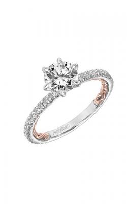 Artcarved Lara Lyric Engagement Ring 31-V909ERW-E