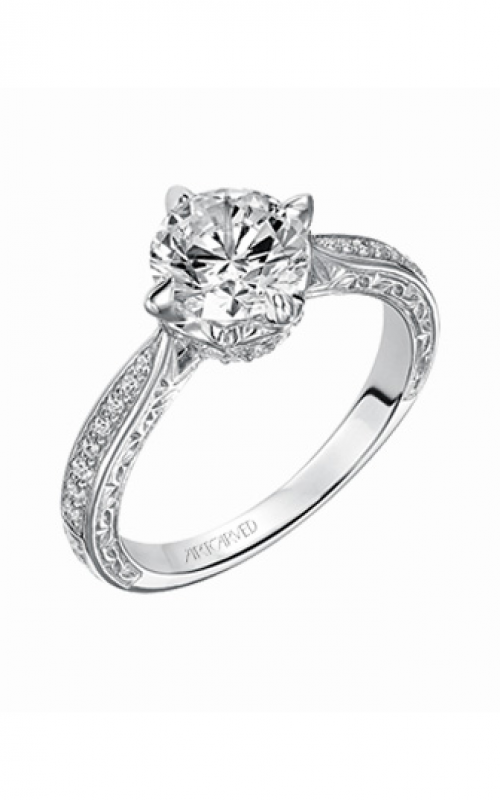 ArtCarved Vintage Engagement ring 31-V492GRW-E product image