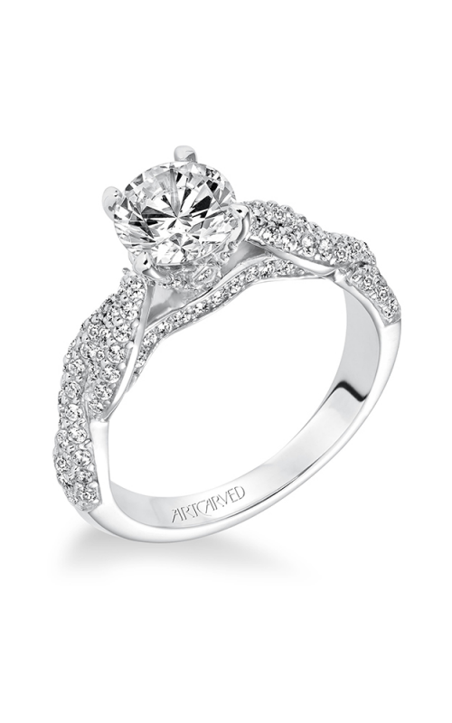 ArtCarved Contemporary Engagement ring 31-V595ERW-E product image