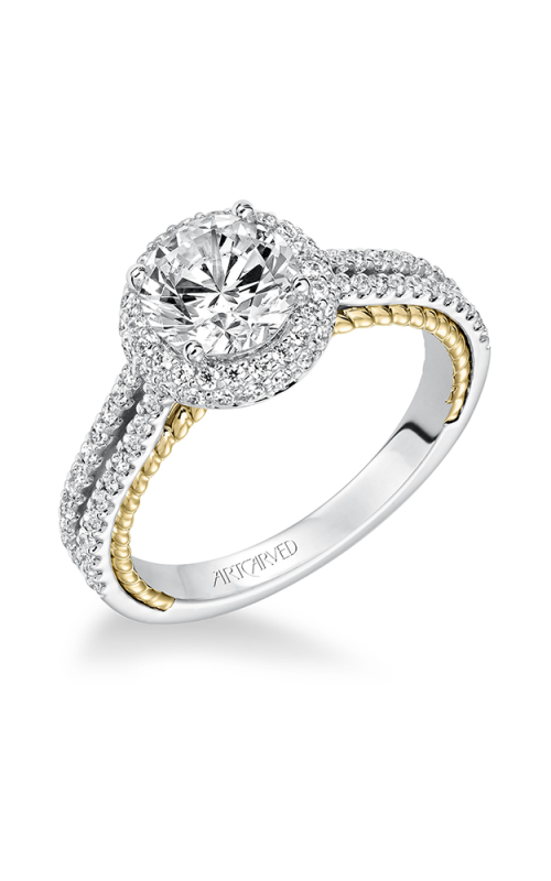 ArtCarved Contemporary Engagement ring 31-V585FRA-E product image