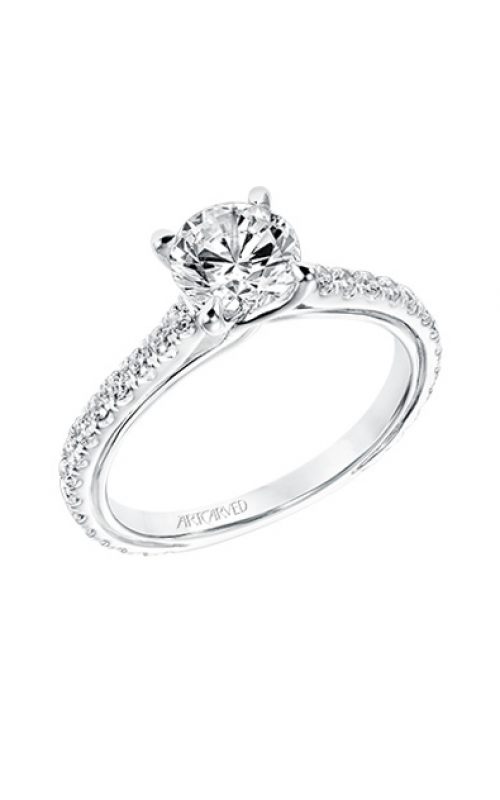 ArtCarved Contemporary Engagement ring 31-V706ERW-E product image