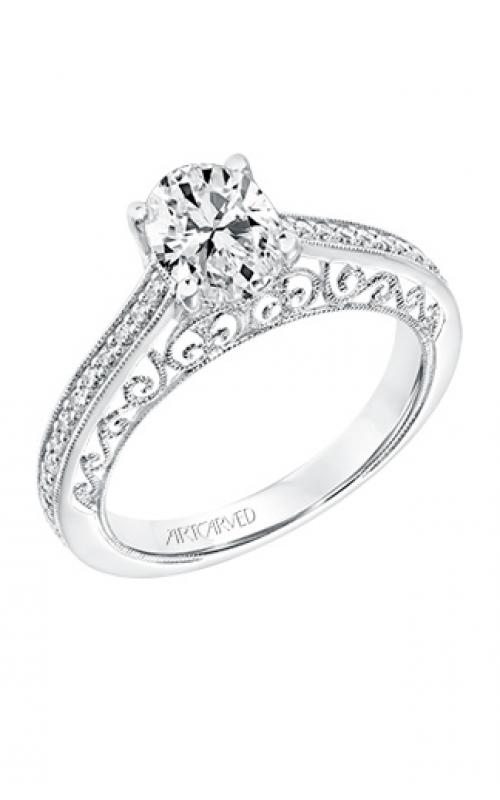 ArtCarved Vintage Engagement ring 31-V722EVW-E product image