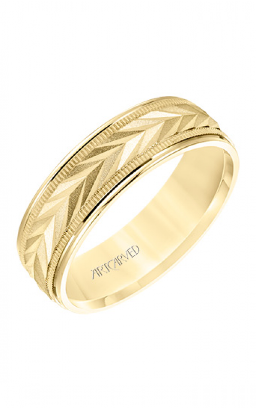 ArtCarved Engraved Wedding band 11-WV8669Y65-G product image