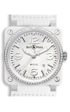 Bell and Ross BR 03-92 BR03-92 White Ceramic Diamonds