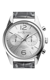 Bell and Ross Chronograph BR126 Officer Silver