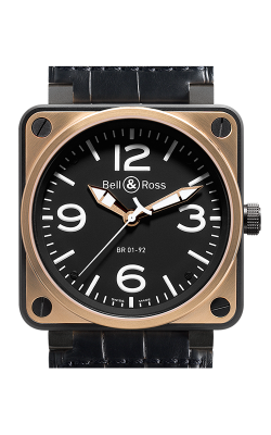 Bell and Ross Aviation BR 01 46 MM Watch BR01-92 Gold and Carbon
