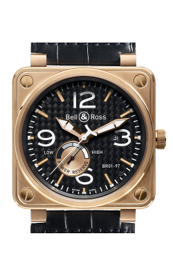 Bell and Ross Aviation BR 01 46 MM Watch BR01-97 Pink Gold