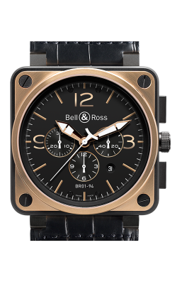 Bell and Ross BR 01-94 Chronographe BR0194 Gold and Carbon Officer