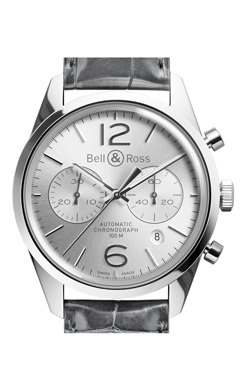 Bell and Ross Chronograph Watch BR126 Officer Silver product image
