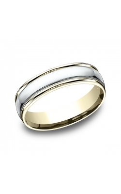 Benchmark Two Tone Comfort-Fit Design Wedding Band CF1560814KWY11 product image
