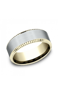 Benchmark Designs Two-Tone Comfort-Fit Design Wedding Band CF18852714KWY06 product image
