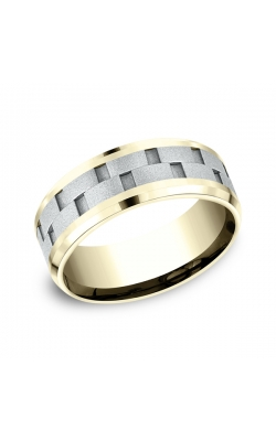 Benchmark Two-Tone Comfort-Fit Design Wedding Ring CF18849314KWY09.5 product image
